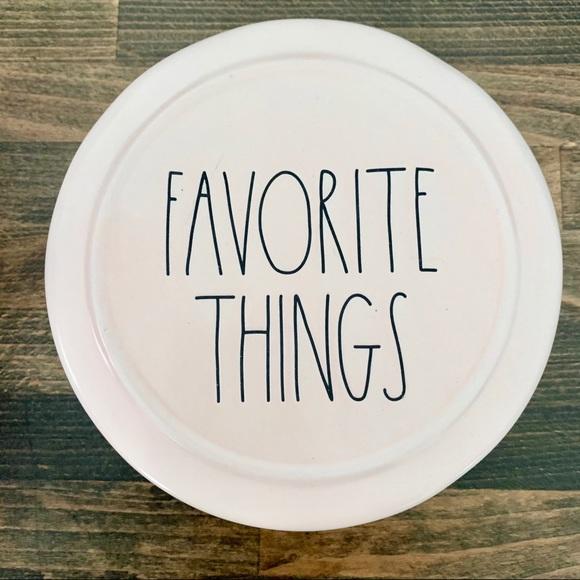 RAE DUNN Favorite Things Ceramic Trinket Box Pink